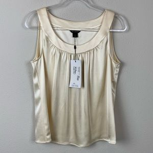 ST. JOHN Sleeveless French Vanilla Ivory Top